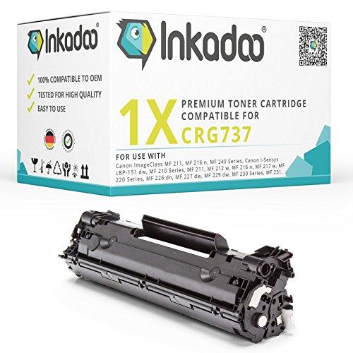 Inkadoo Toner kompatibel für Canon Sensys MF 237w, MF 232w, MF 231 einsetzbar für Canon 737 / 07420 / 9435B002 Schwarz, 2.400 - Drucker-tinten-patronen Canon-211