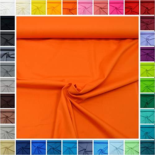 Stoff Kissenbezug (MAGAM-Stoffe Sophie Baumwollstoff Uni 100% Baumwolle Oeko-Tex Meterware 50cm (05. Orange))
