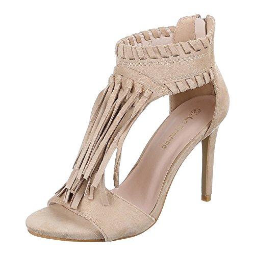 Damen Schuhe, 99-138, SANDALETTEN HIGH HEELS PUMPS