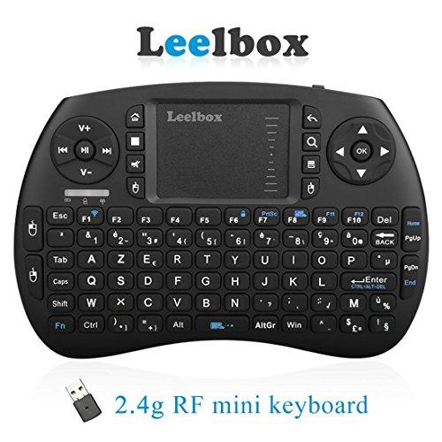 leelbox Mini Tastatur Wireless mit Touchpad 2.4GHz Mini Keyboard Android ergonomisch, kabellos, mit Touchpad Android TV Box Smart TV Mini PC Android, HTPC, Konsole, Computer (Französischer Stil)
