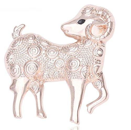 Epinki Unisex Brosche, Edelstahl Tierkreis Form Broschen Pin Abschlussball Anstecknadel Hochzeit Pins Gold 3.6*4CM (Auge Rosenkranz Pins)