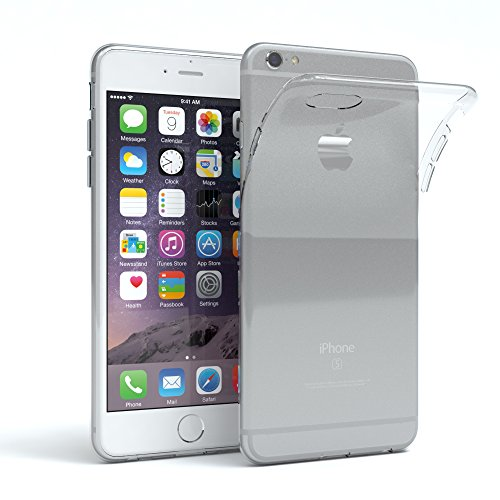 Apple iPhone 6/6S Schutzhülle Silikon, ultra dünn I von EAZY CASE I Slimcover, Handyhülle, Silikonhülle, Backcover, Transparent/Durchsichtig, Transparent