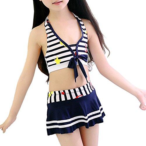 [bikini mädchen]Kidslove bikini mädchen 2tlg Tankini Set mädchen Schwimmanzug Kinder Badeanzug mädchen Bademode (S/Höhe 85-100cm)