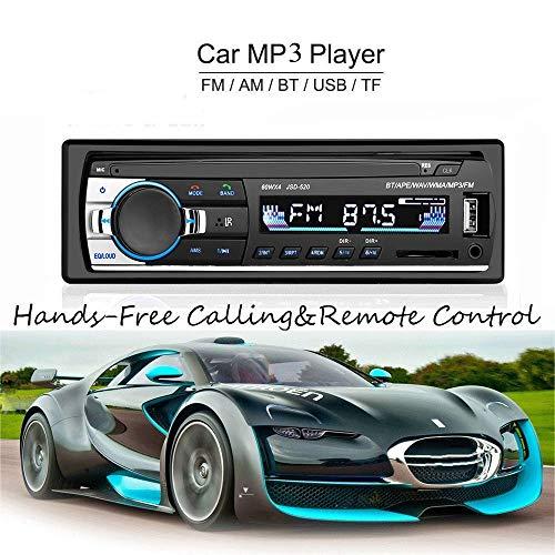 atian LED Voiture MP3/WMA Lecteur TFT écran FM Radio AM Voiture 4Enceinte Video-Support SD/USB/MMC ID3écran avec Bluetooth Main Libre Appel et Intégré EQ + télécommande + Volant Clef Contr