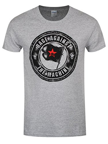 Rage Against the Machine T-Shirt Bulls Sport da uomo in grigio