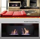 L'éthanol et cheminée de gel Cheminée Modèle Tornado Deluxe (Noir)