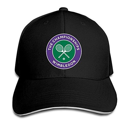 Huseki 2016 Wimbledon Tennis Championships Flex Baseball Cap Black Black Flex-fit Cotton Twill Cap