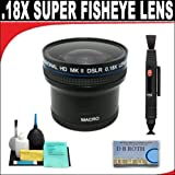 .21x HD Professional Super Wide Angle Panoramic Macro Fisheye Lens + Lenspen + 6 Pc Cleaning Kit + DB ROTH Micro Fiber ClothFor The Nikon D5100 Digiatl SLR Camera Which Have Any Of These (18-200mm, 24-120mm, 135mm, 180mm, 24-85mm, 24-120mm F3)Nikon Lenses