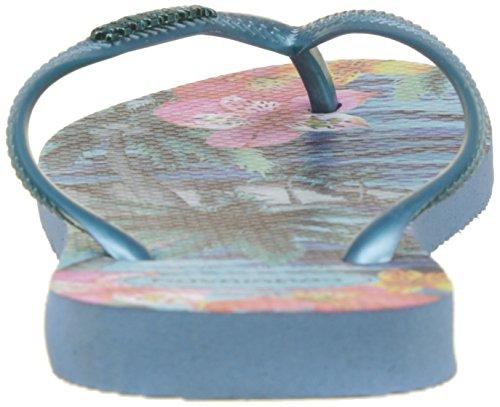 Signore Havaianas Slim Perizoma Tropicale Blu (splash Blu)