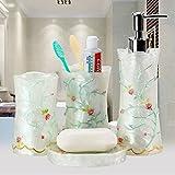 Resina europea quattro-cinque suite-pezzo wc-bagno bagno colluttorio mug kit di lavaggio,quattro-pezzo suit