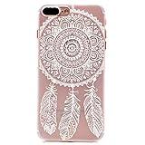 iPhone 7 Plus Hülle , Keyihan Henna Weiße Blume Blumen Muster Hard Plastik Handy Schutzhülle Case Bumper für Apple iPhone 7 Plus (Traumfänger)
