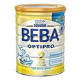 Nestlé BEBA Optipro 2 Senza Amido, Latte per Neonati, Formula per Lattanti, Latte di Proseguimento, Senza Glutine, Barattolo, 800 g, 12340975