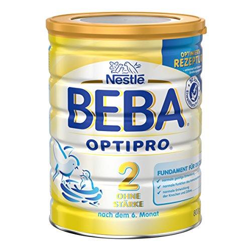 Nestlé BEBA Optipro 2 ohne Stärke Folgemilch, nach dem 6 Monat, 3er Pack (3 x 800 g)