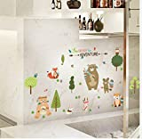 ZBYLL Wall Sticker tierische Familie Kinderzimmer Schlafzimmer Schrank Garderobe Dekoration