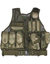 MFH–Chaleco táctico USMC US Army Táctica Chaleco Paintball Chaleco para lucha Chaleco Modular Sistema muchos colores, HDT-camo FG, talla única