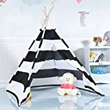 COSTWAY Kids Teepee Tent - Indian Children Play House - with Premium Oxford Cloth & Solid Wood, Easy to Install, as for Kids Boys Girls
