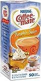 Pumpkin Spice, Coffee-mate Liquid Coffee Creamer 50 CT Single Serving Tubs - Seasonal Flavor