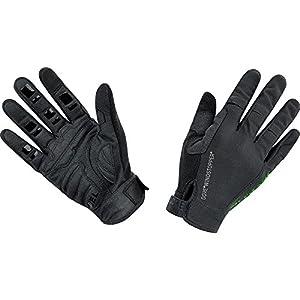 GORE BIKE Wear Guantes de Hombre para Mountainbike, Súper ligeros, GORE WINDSTOPPER, POWER TRAIL Light Gloves, Talla 8, Negro, GWLPOW990006