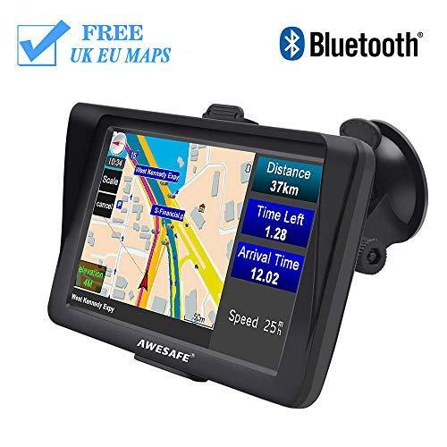 AWESAFE Sat - Sistema de navegación GPS para Coche, Pantalla táctil capacitiva...