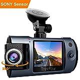 ABOX Camera Embarquée Avant Objectif Rotatif Full HD 1080p DVR Dashcam 170° Grand Angle Capteur-G, Enregistrement en Boucle, Détection de Mouvement, Camera de Surveillance Voiture Camion TrekPow T1