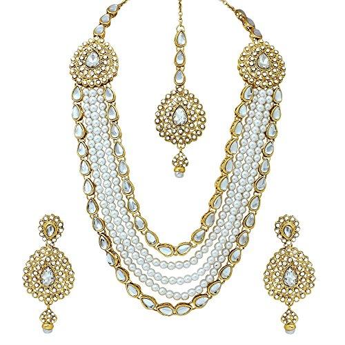 Atasi International Jewellery Set for Women (Golde...