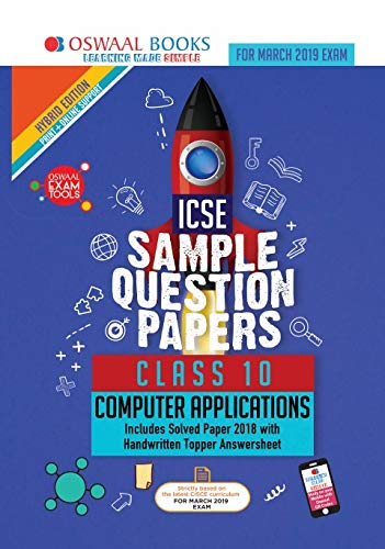 Oswaal ICSE Sample Question Papers Class 10 Computer Application (For March 2019 Exam)