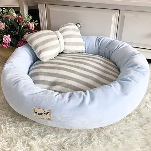 CJHK Flauschige Hundedecke 45x14cm Katzen Decke mit super Soft weiche zweiseitige Flauschige Haustier-Decke, Überwurf für Hundebett Sofa und Kennel,Blue,L