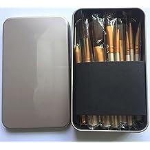 Brosses de maquillage, Brosses de maquillage DZW Cosmétique Professional Essential 12/18/24 pièces Ensemble de brosse à maquillage avec sacoche de voyage , other materials