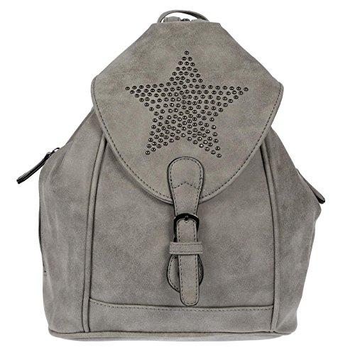 Kossberg Damen Rucksack Stern Handtasche Shopper Rucksackhandtasche Handtasche Bag