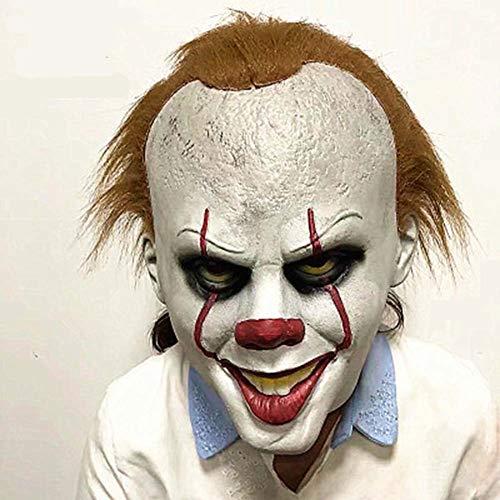 Kinder Kostüm Scary - OOCO Clown Maske Halloween Kostüm Scary Cosplay Prop Kinder Spielzeug Trick Scary Latex Realistische Prop Party Gesichtsmaske
