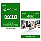 12 Monate Xbox Live Gold + 3 Monate Xbox Game Pass  | Xbox Live Download Code