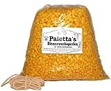 Palettas gelbe Bienenwachsperlen 1 kg Bienenwachs 100% rein Pastillen