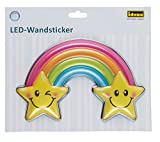 Idena LED Wandsticker Lampe Regenbogen, ca. 22 x 13 cm, 31256