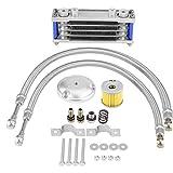 KIMISS Ölkühler 65 ml für Motorräder Kühlsystem für Motorenöl