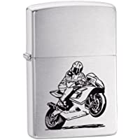 Zippo Motorcycle Lighter - Brushed Chrome