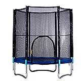 Ultrey Trampoline Outdoor Kindertrampolin mit Sicherheitsnetz Gartentrampolin Komplettset 150kg Belastbar ca.182-213cm