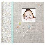C.R. Gibson Grandma's Brag Book, Album fotografico, Libro della memoria del bambino, Multicolore (Linen Tree), L (23 x 22.5 cm)