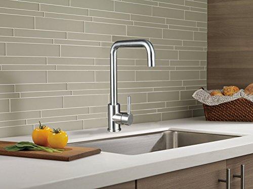 Homelody 360° drehbar Küchenarmatur Spültischarmatur Einhebelmischer Küche Wasserhahn Spültisch Armatur Spüle Spülbecken Mischbatterie für Küchen - 3