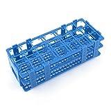 Sourcingmap?azul caja de plástico 21Holes rack soporte para 50ml tubos de centrífuga