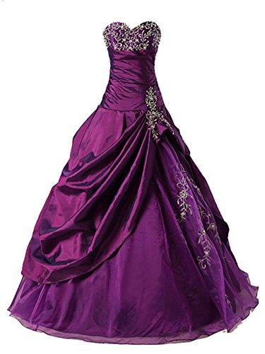 Vantexi Frauen Formellen Abschlussball Abend Kleid Ballkleid Prom Kleider Lila Größe 52