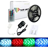 ALED LIGHT®Waterproof 16.4ft 5 Meter 5050 RGB Led Strips Lighting Full Kit With 44 Key IR Remote Controller for Home Kitchen Cabinet TV Lighting Decoration