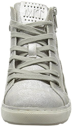 Marco Tozzi 45200, Baskets hautes fille Argent - Silber (SILVER COMB 948)