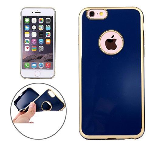 Pour iPhone 6 / 6s, étui protecteur TPU Gold Edge JING ( Color : Black ) Dark blue
