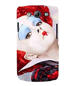 For Samsung Galaxy S3 Neo i9300i :: Samsung I9300I Galaxy S3 Neo :: Samsung Galaxy S III Neo+ I9300I :: Samaung Galaxy S3 Neo Plus girl with stage makeup ( girl with stage makeup, girl with red hair, gold ball, red heart, dangerous girl, girl ) Printed Designer Back Case Cover By FashionCops