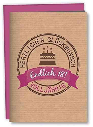 Zum 18. Geburtstag: Geschenkverpackung für ein Geldgeschenk: Mit Kuvert
