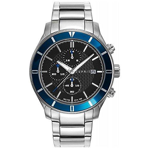 Esprit–Reloj de pulsera para hombre cronógrafo cuarzo acero inoxidable es109431002