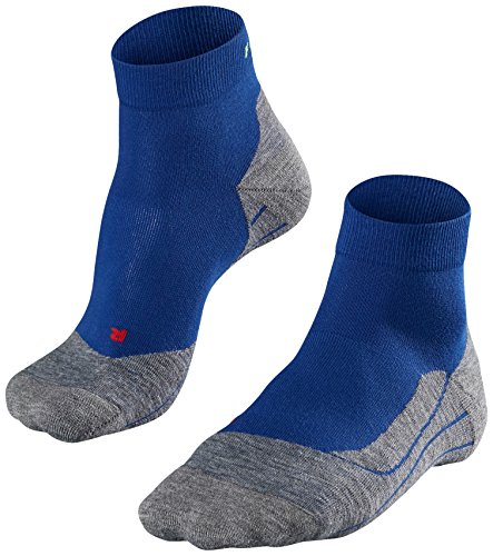 FALKE Herren Socken Laufsocken RU4 Short - 1 Paar, Gr. 46-48, blau, feuchtigkeitsregulierend, Sportsocken Running
