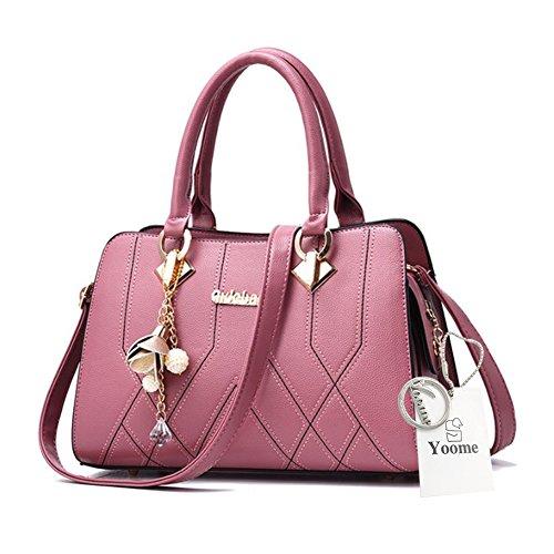 Elegant Handle Top Handtaschen Crossbody für D Medium D Frauen Pink Pink Anhänger Taschen Handtaschen Hardware Yoome 08vwzpqn