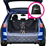 Picture Of Car Boot Liner Protector for Dogs with Bumper Flap, Sides and Pocket – Heavy Duty Waterproof Quilted Car Boot Cover