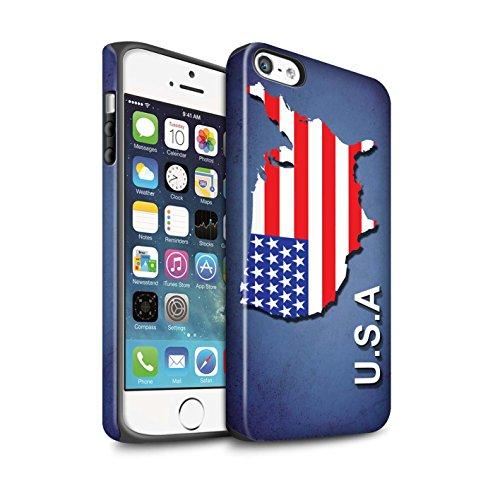 STUFF4 Matte Harten Stoßfest Hülle / Case für Apple iPhone 7 / Kroatien/Kroatische Muster / Flagge Land Kollektion Amerika/Amerikaner/USA